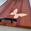 Thumbnail: Wooden Charcuterie Board With Handles; Hardwood Mahogany, Purpleheart Strip With