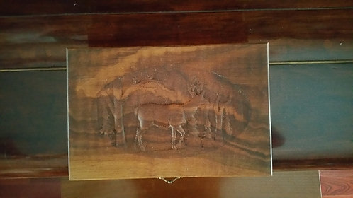 Wooden Keepsake Box with carving
