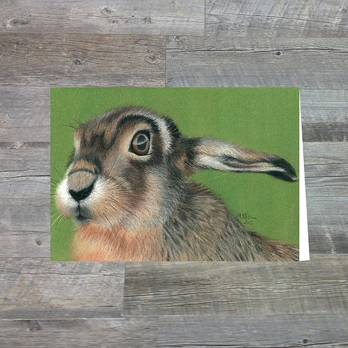 Hare In The Long Grass - Greetings Card (A6)