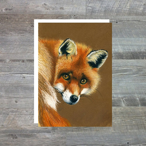 Fox Backwards Glance - Greetings Card (A6)