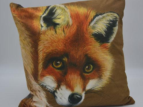 Fox- Backwards Glance, Luxury Handmade Cushion