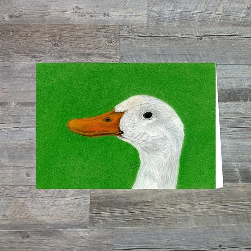 Aylesbury Duck At Old Hall Farm - Greetings Card (A6)