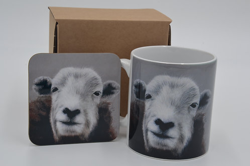 Herdwick Ewe at the Riddin - Printed Mug & Coaster Set