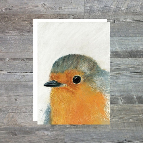 Little Robin Red Breast - Greetings Card (A6)