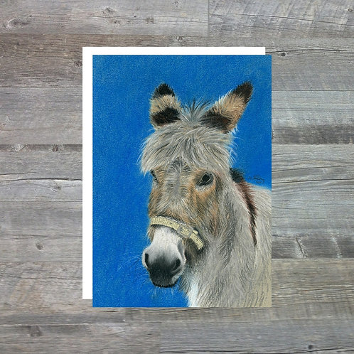 Mo The Donkey - Greetings Card (A6)