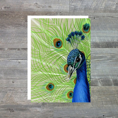 Peacock - Greetings Card (A6)