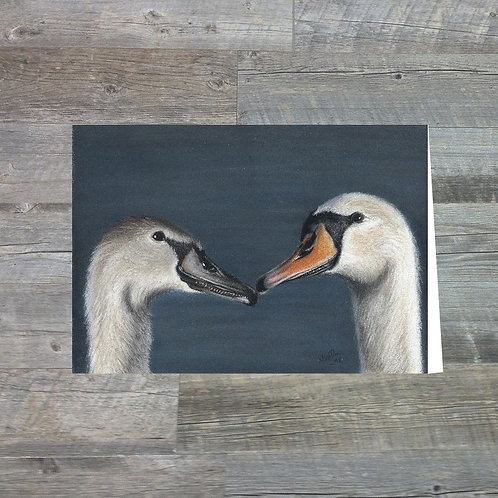 Swan & Cygnet At Bowness - Greetings Card (A6)