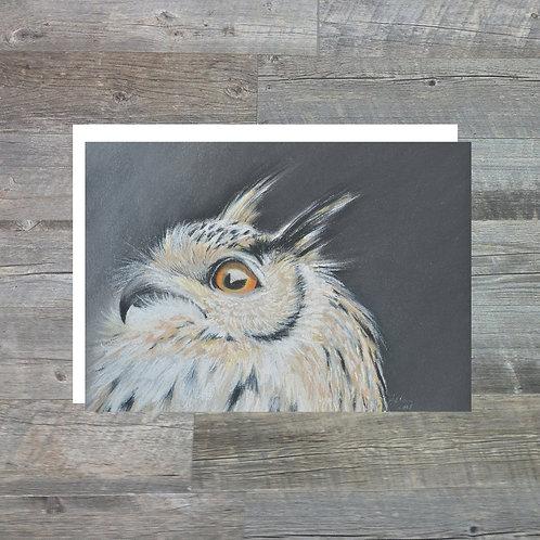 Eagle Owl - Greetings Card (A6)