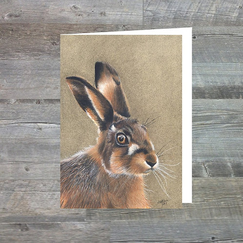 Hare Of The Highland - Greetings Card (A6)