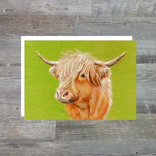 Highland Cow - Greetings Card (A6)