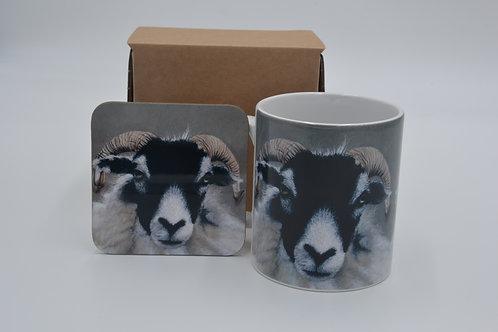 Swaledale at Sowhow Farm - Printed Mug & Coaster Set