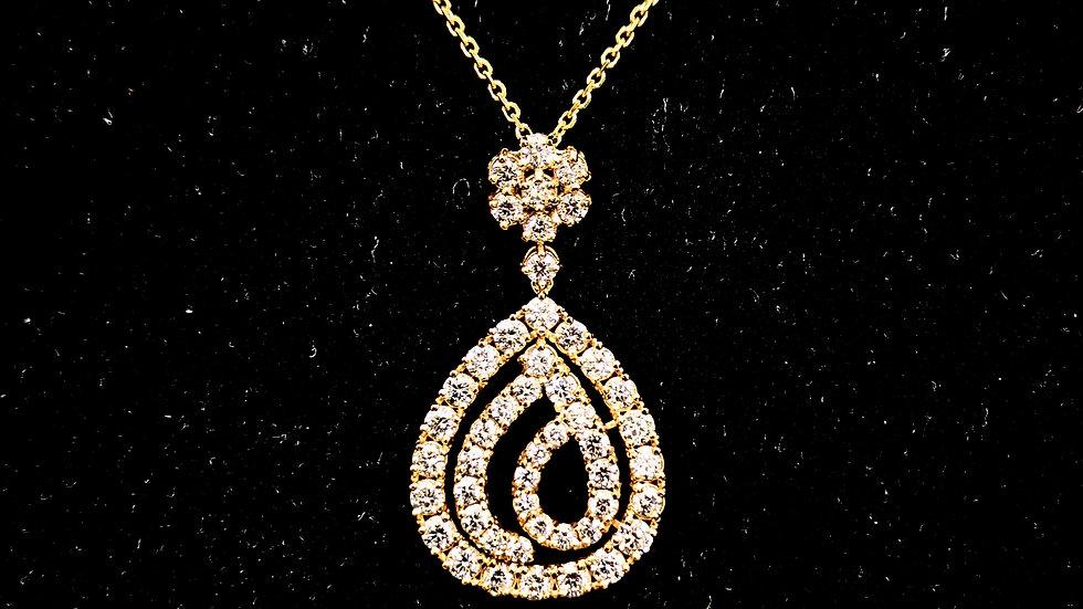 Drop Diamond Pendent