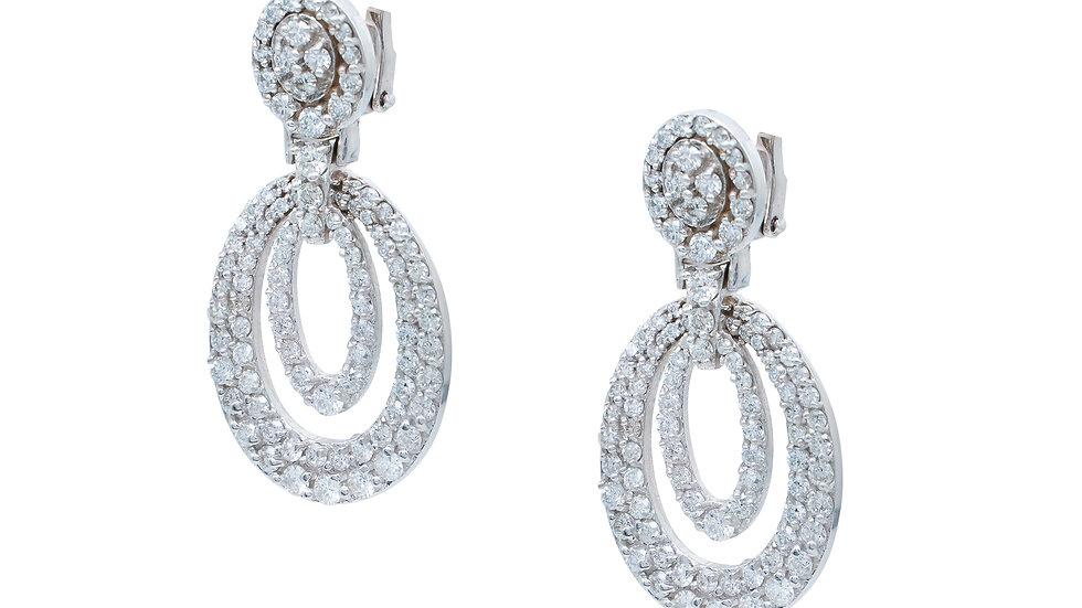 Long dangle Diamond Earrings