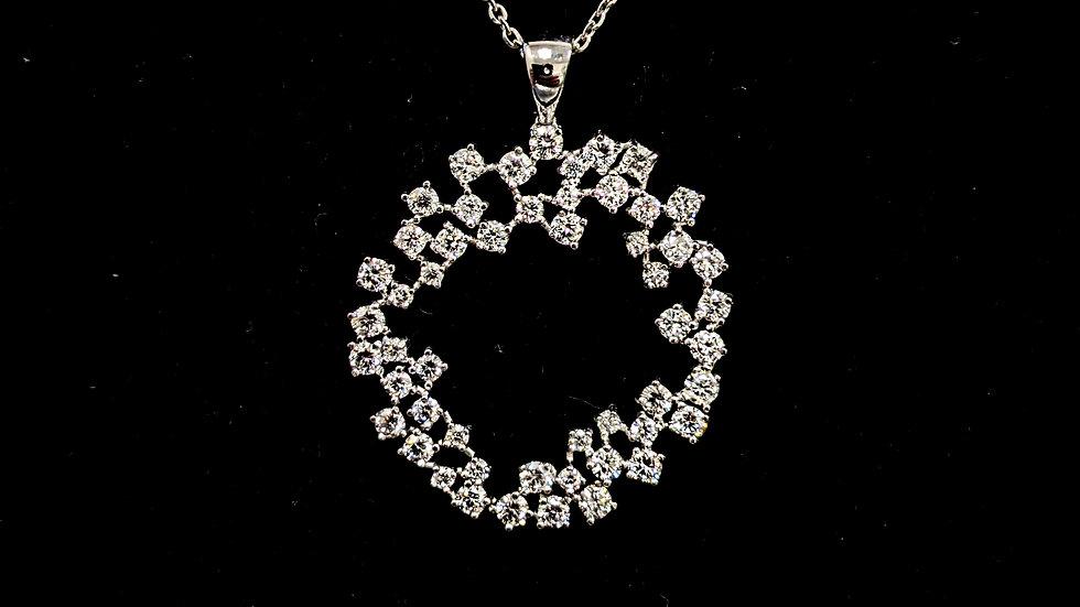 Double Circle Diamond Pendent