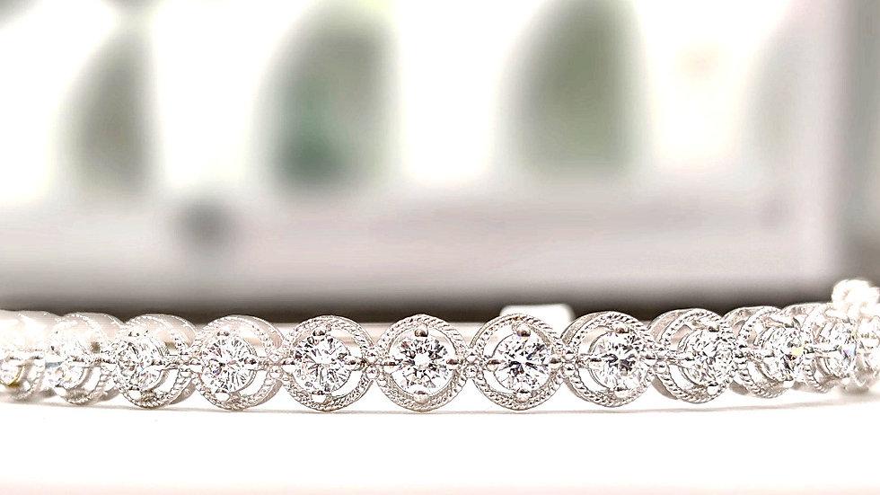 Flexible Diamond Square Bangle