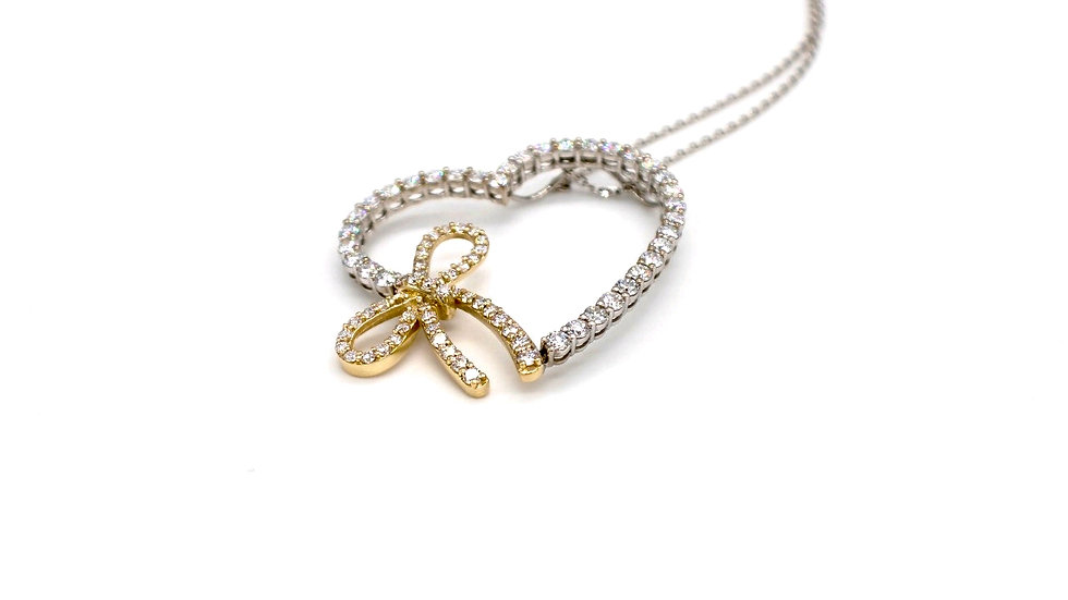 Diamond Pendent with Love Knots