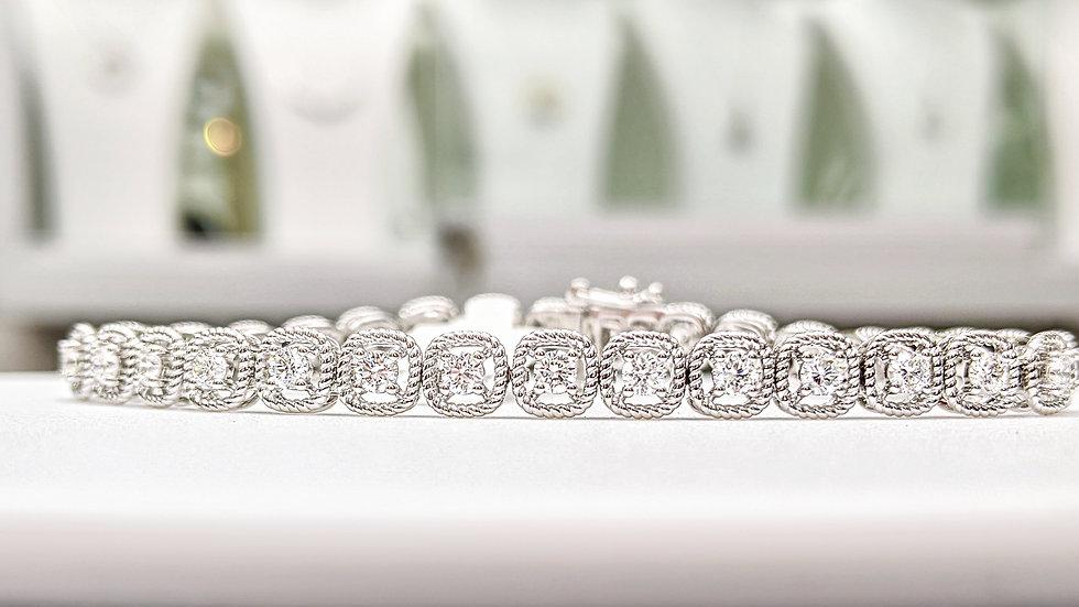 Wire gold Diamond tennis bracelet