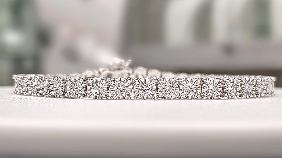 Diamond Bracelet with Miracle plate