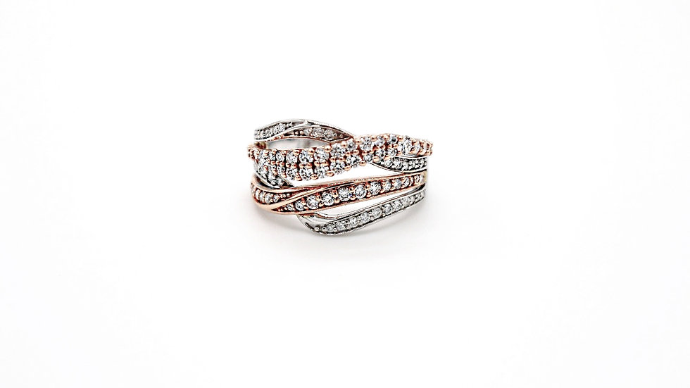 INTERTWINED  TWO-TONE  Fashion Ring