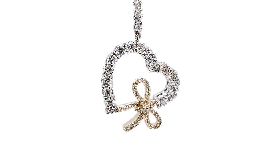 Diamond Earrings with Love Knots