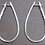 Thumbnail: Diamond Large Inside & Out Hoop Earrings (3.80cttw) in 14k White Gold