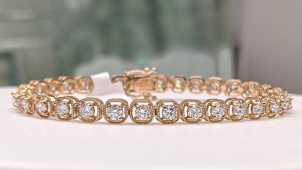 Diamond Bracelet in rose gold