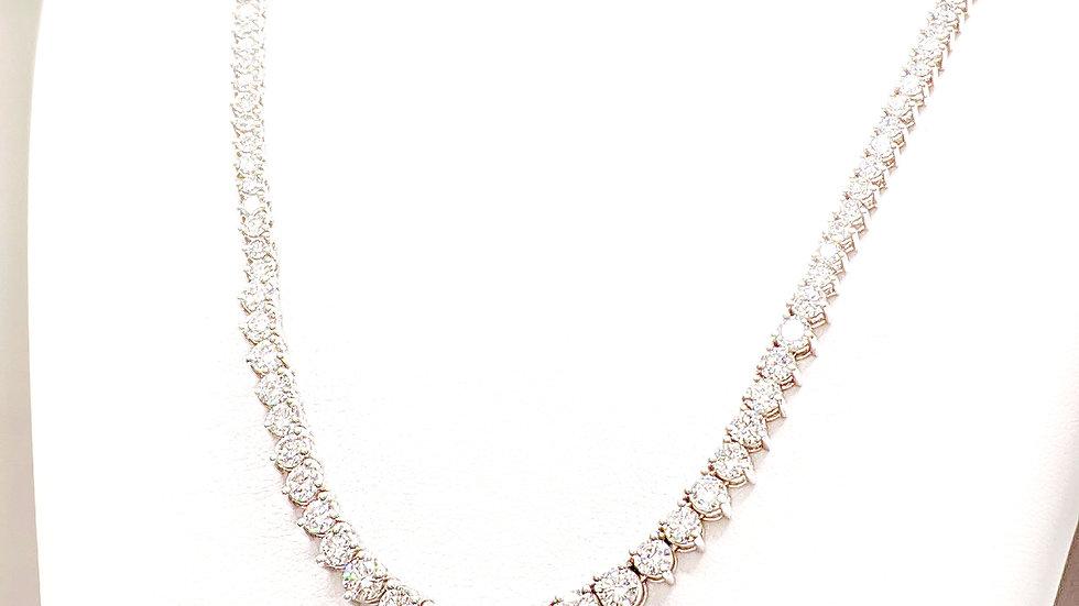 GRADUATE DIAMOND TENNIS NECKLACE