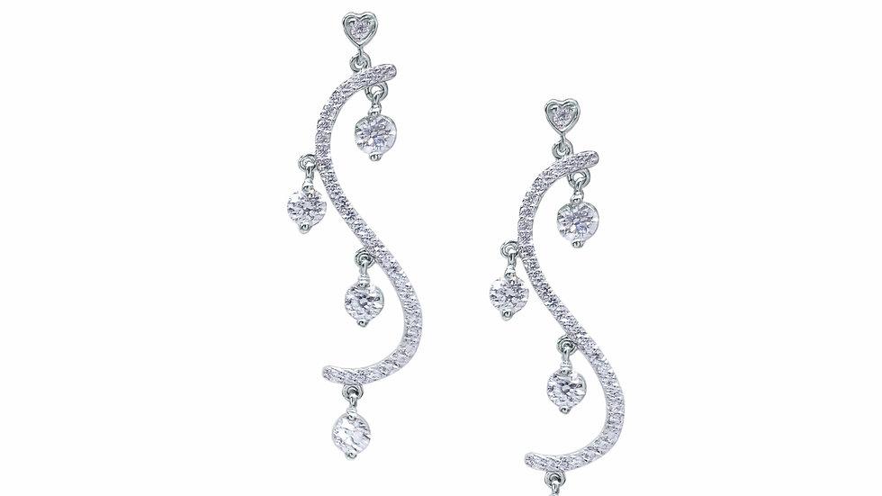 Long Diamond dangling Earring