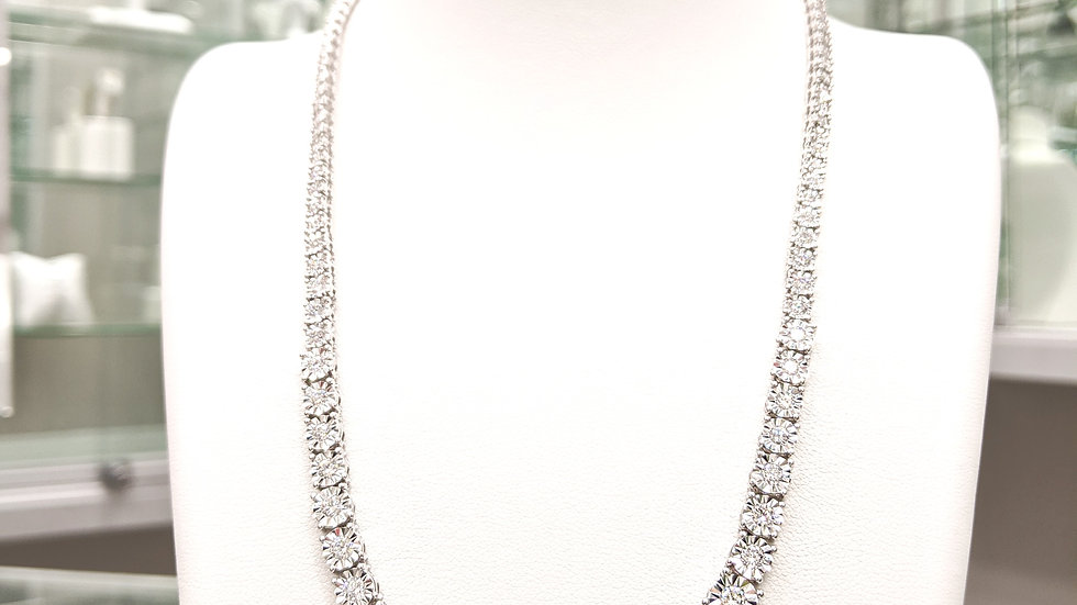 Diamond Graduated Tennis Necklace 17 Inches