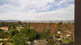 scenic view of Sherman Oaks from above.j
