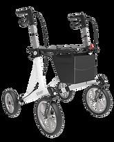 white 4 wheeled walker