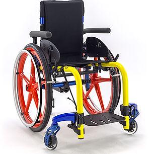 Ki Mobility_Clik-Yellow-CandyBlue-Wheelchair