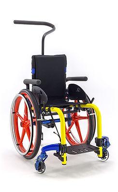 Ki Mobility-Clik-Yellow-CandyBlue-Blue_Children's_wheelchair