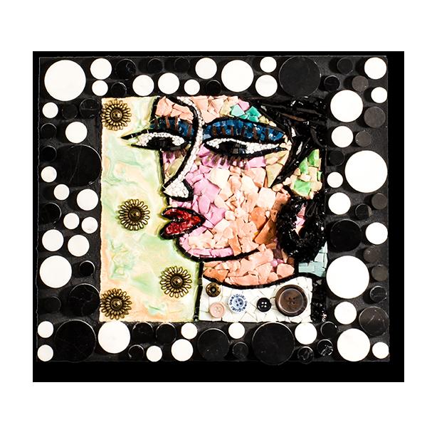 Un tableau inspiré par l'oeuvre «Paso a paso» de Gallardo et réalisé en matériaux très variés.
