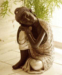 Photo du bouddah du cabinet de maryse theau laurent réflexologue