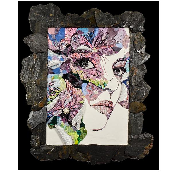 Mosaïque contemporaine inspirée de l'oeuvre de Yulia Brodskaya par Katia Giton