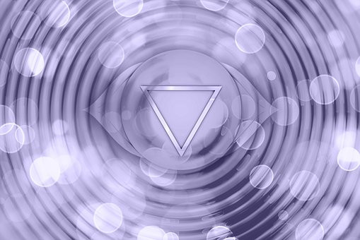 Indigo or purple is the color of the 3rd Eye Chakra