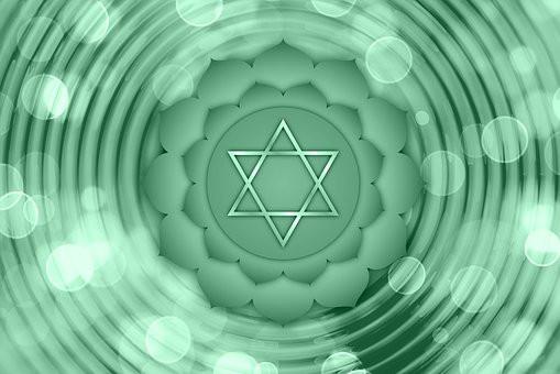 Green Heart Chakra symbol