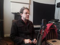 Stephen Janis preparing for podcast