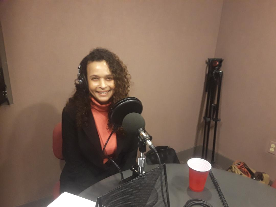 Taya M Graham recording Podcast.jpg