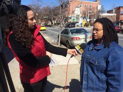 Taya Graham speaking with Takiyah Thompson