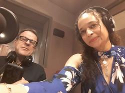 Stephen Janis and Taya Graham recording at WYPR