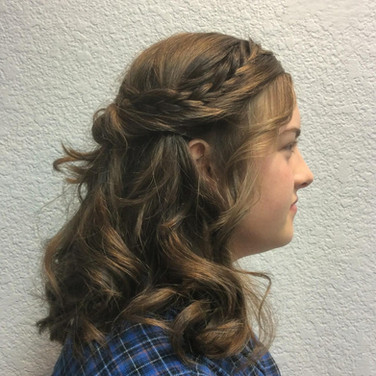 Side Braid and Curls