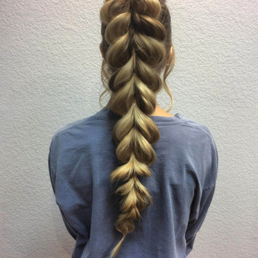 Puff Fish Tail Braid