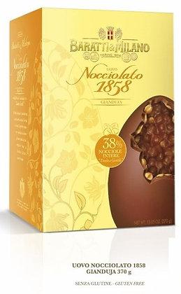 Uovo di cioccolato alla gianduja nocciolato Baratti e Milano