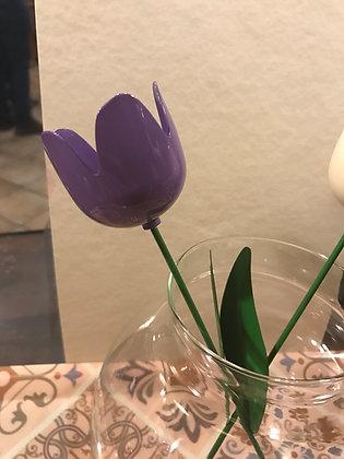 Tulipano porta candela con gambo medio da infilzare