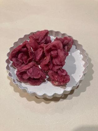 Boccioli di rosa cristallizzati