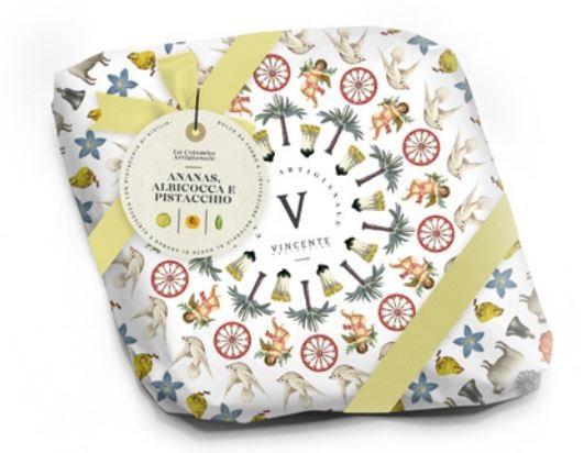 Colomba Jardina con ananas, albicocca e pistacchi Vincente