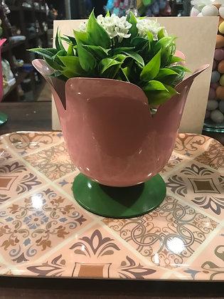Porta piante rosa