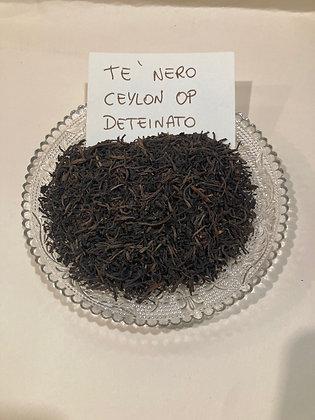 Tè nero Ceylon OP deteinato